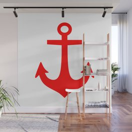 Anchor (Red & White) Wall Mural