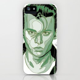 Johnny Depp - Green iPhone Case