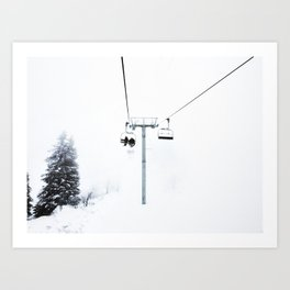 Mysterious Chairlift Art Print