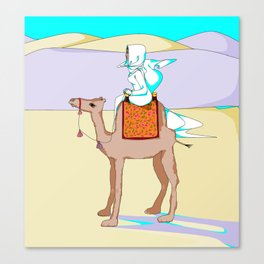 Women of the Earth Series: Woman of the Dessert and Camel Canvas Print