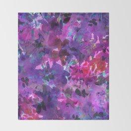 Violet Fields Throw Blanket