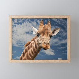 Giraffe Animal Facial Expression Framed Mini Art Print