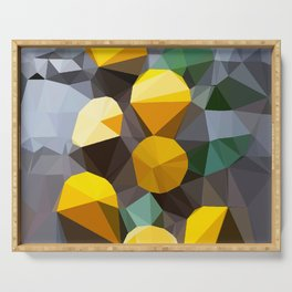 lemonade abstract geometrical art Serving Tray