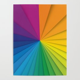 Abstract Rainbow Poster