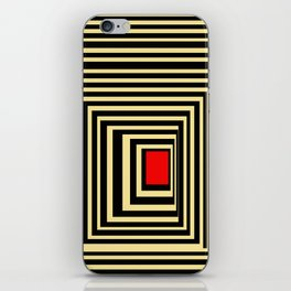 Red point iPhone Skin
