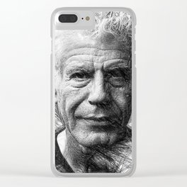 Anthony Bourdain Clear iPhone Case