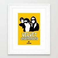 velvet underground Framed Art Prints featuring VELVET UNDERGROUND Y by zzglam