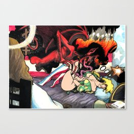 the Sleepy Sins of Suzy Spreadwell no. 3: A Wanton Lust for Burning Angels Canvas Print