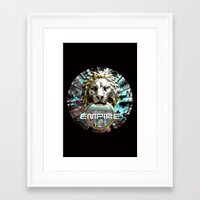 lions Framed Art Prints featuring LIONS by infloence