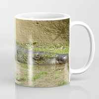 hippo Mugs featuring hippo by Mathilde Nieuwenhuis