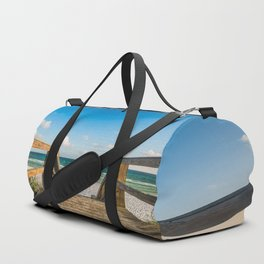 Head to the Beach - Boardwalk Leads to Summer Fun in Florida Duffle Bag