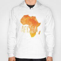 africa Hoodies featuring Africa by Stephanie Wittenburg