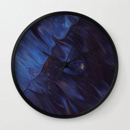 paint liquid stains blue dark Wall Clock
