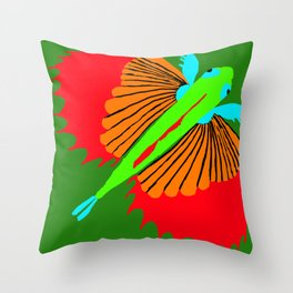 The Spectacular Flying Fish Throw Pillow