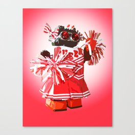Cheerbot Red Canvas Print