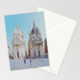 Twin Buildings Stationery Cards