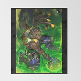 over lucio watch Throw Blanket