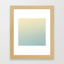 FADING AWAY - Minimal Plain Soft Mood Color Blend Prints Framed Art Print