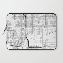 San Bernardino Map, USA - Black and White Laptop Sleeve