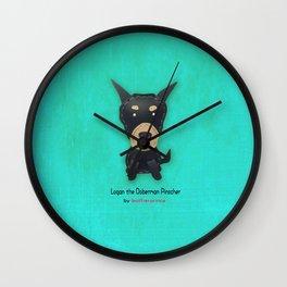 Logan the Doberman Pinscher by leatherprince Wall Clock