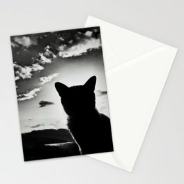 cat view Stationery Cards