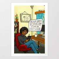 kindle Art Prints featuring MY Kindle  by PencilHoarder