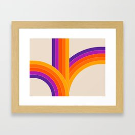 Bounce - Rainbow Framed Art Print