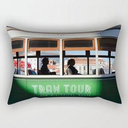 Lisbon Portugal tramway Rectangular Pillow