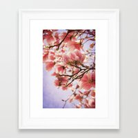 magnolia Framed Art Prints featuring Magnolia  by KunstFabrik_StaticMovement Manu Jobst