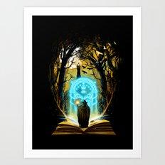 Book of Magic and Adventures Art Print
