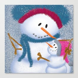 The SnowMomma And SnowGirl Canvas Print