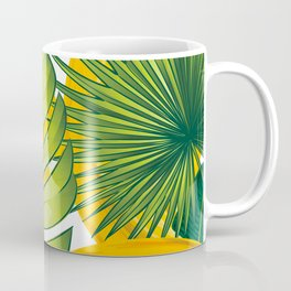 Tropical leaves decor bananas print forest interior palm Coffee Mug
