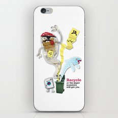 Recycled Paper Monsters iPhone & iPod Skin