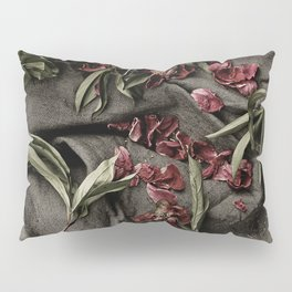 """Peonies are beautiful from the """"bud to to the end."""" Pillow Sham"""