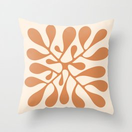 Matisse Inspired Abstract Cut Out orange Throw Pillow
