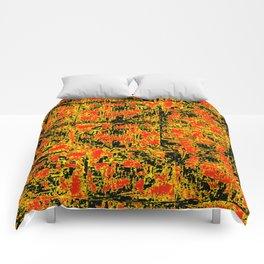 Golden Red Comforters