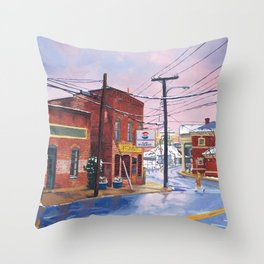 Crossing, C-ville, VA Throw Pillow