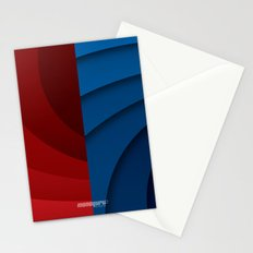 Red and blue color gradient Stationery Cards