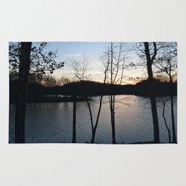 Dusk On The Lake Rug
