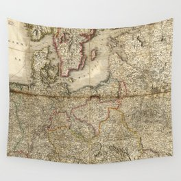 Seat of War, Map of Germany (1813) Wall Tapestry