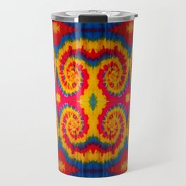 Tri-Swirl tie dye pattern Travel Mug