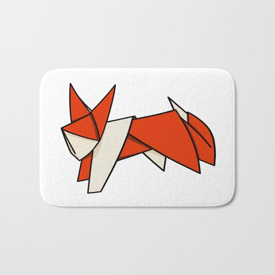 Origami Fox Bath Mat