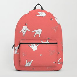 I really love you pattern in coral Backpack