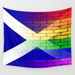 Gay Rainbow Wall Scotland Flag Wall Tapestry