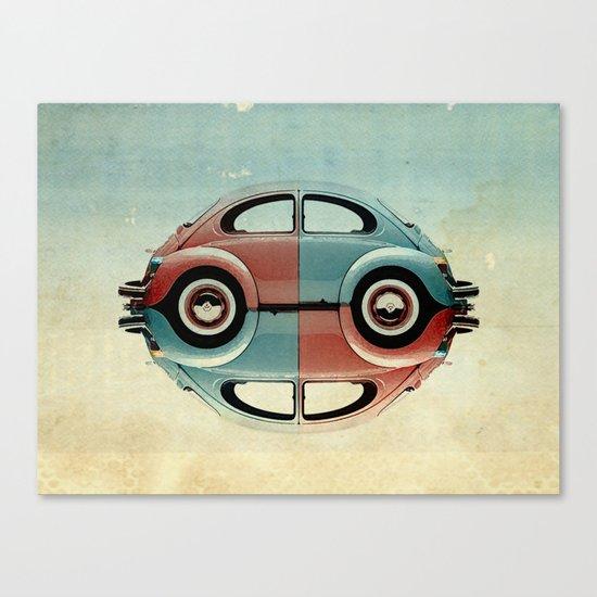 checkered 4 speed Bug Canvas Print