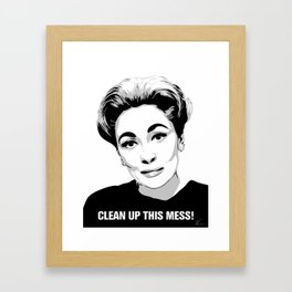 Mommie Dearest - Clean up this Mess! - Pop Art Framed Art Print