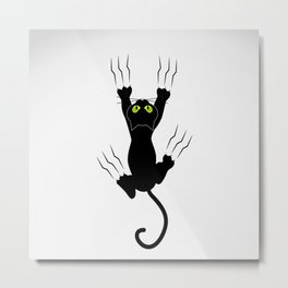 Cat grabing with claws Metal Print