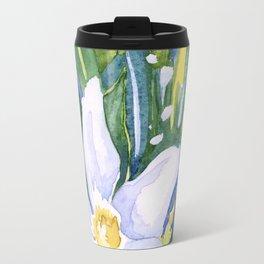Tropical Flower Watercolor Travel Mug