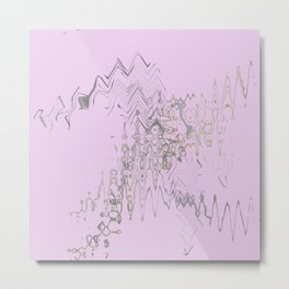 Another weird blurry and shaky colorful shapes hovering over weird wall Metal Print
