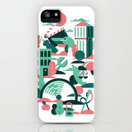 A sunny morning in Milan iPhone Case